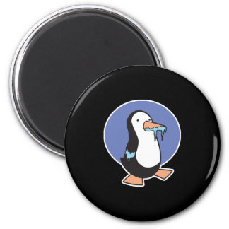 frozen icicle penguin 2 inch round magnet