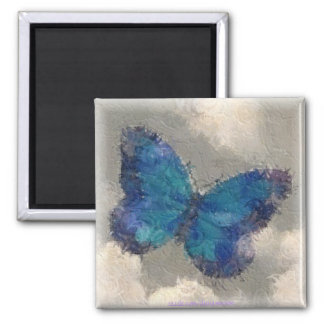 Frozen in Flight 2 Inch Square Magnet