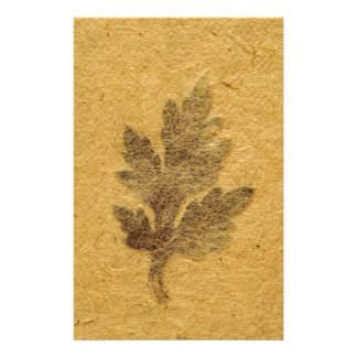 Frozen-In-Time Leaf Stationary Stationery