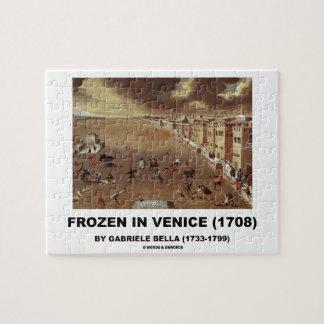Frozen In Venice (1708) by Gabriele Bella Jigsaw Puzzle