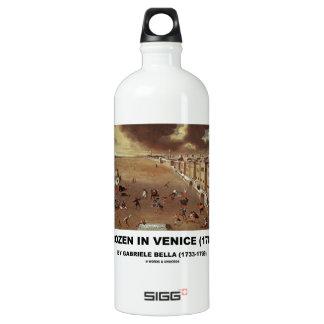 Frozen In Venice (1708) by Gabriele Bella Water Bottle