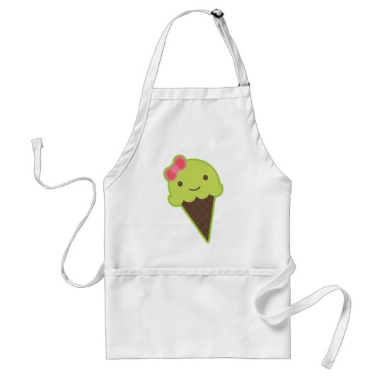 Frozen Kawaii in a Cone Adult Apron