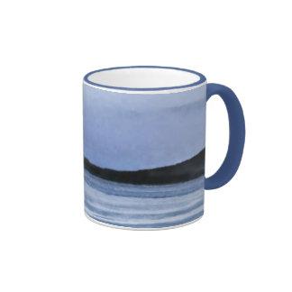 Frozen Lake Abstract Ringer Coffee Mug
