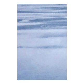 Frozen Lake Abstract Stationery