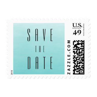 Frozen Lake Ombre | Wedding Save the Date Postage