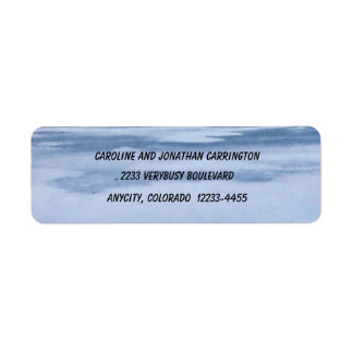 Frozen Lake Return Address Label