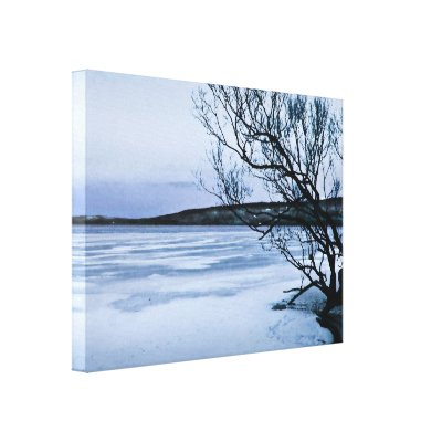 Frozen Lake Stretched Canvas Prints