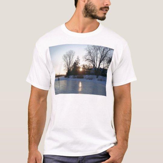 Frozen Lake Sunset T-Shirt