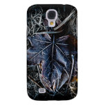 Frozen Leaf and Grass Galaxy S4 Cases