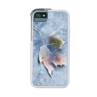 Frozen Leaf on Ice Case For iPhone 5/5S