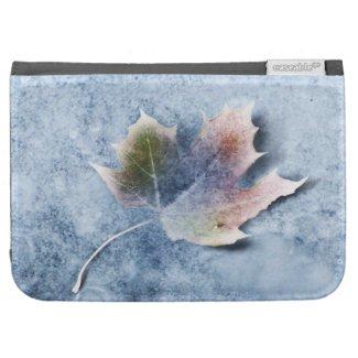 Frozen Leaf on Ice Kindle Folio Case