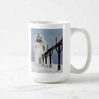 """Frozen Light""  St. Joseph  Lighthouse 15oz Mug"