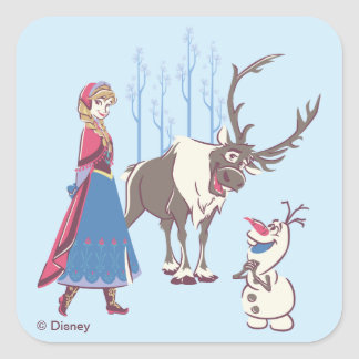 Frozen   Listen to your Heart Square Sticker