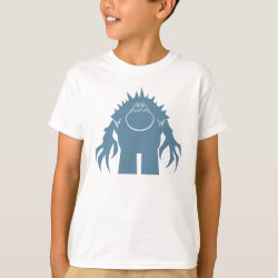 Kids' Hanes TAGLESS® T-Shirt with Stylized Marshmallow Silhouette design