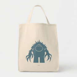Grocery Tote with Stylized Marshmallow Silhouette design