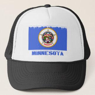 Frozen Minnesota Flag Trucker Hat