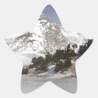 Frozen Mountain Star Sticker