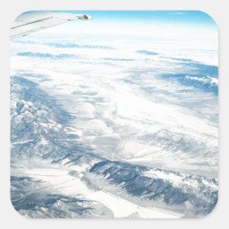 Frozen Mountain Tops Square Sticker
