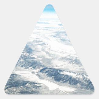 Frozen Mountain Tops Triangle Sticker