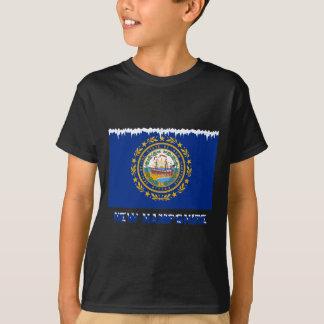 Frozen New Hampshire Flag T-Shirt