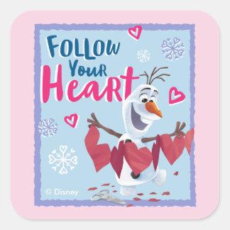 Frozen - Olaf   Follow Your Heart Valentine Square Sticker
