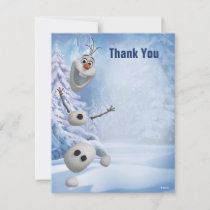 Frozen Olaf | In Pieces Thank You Note Card