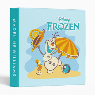 Frozen | Olaf Playing on the Beach 3 Ring Binder