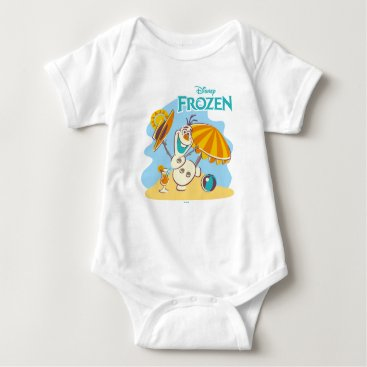 Disney Themed Frozen | Olaf Playing on the Beach Baby Bodysuit