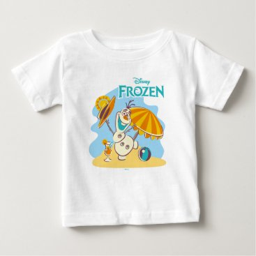 Disney Themed Frozen | Olaf Playing on the Beach Baby T-Shirt