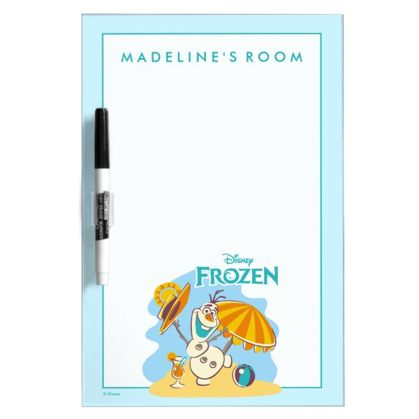Frozen | Olaf Playing on the Beach Dry-Erase Board
