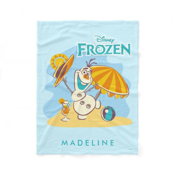 Frozen | Olaf Playing on the Beach Fleece Blanket