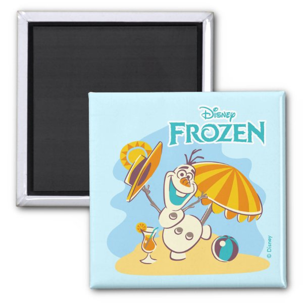 Frozen | Olaf Playing on the Beach Magnet