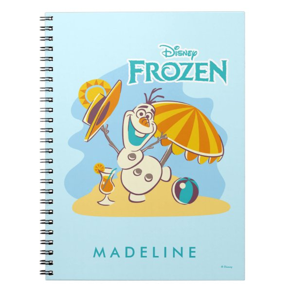 Frozen | Olaf Playing on the Beach Notebook