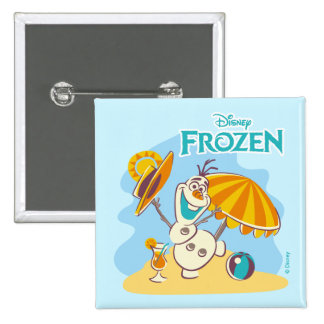 Frozen | Olaf Playing on the Beach Pinback Button