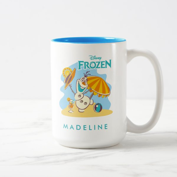 Frozen | Olaf Playing on the Beach Two-Tone Coffee Mug