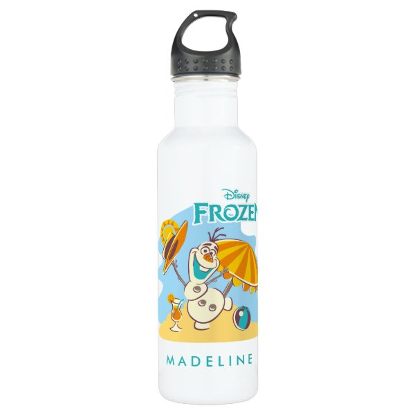 Frozen | Olaf Playing on the Beach Water Bottle
