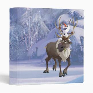 Frozen | Olaf sitting on Sven 3 Ring Binder