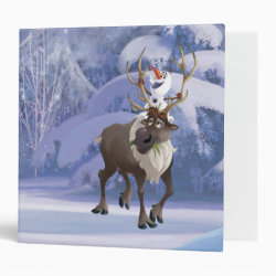 Avery Signature 1' Binder with Frozen's Olaf the Snowman & Sven the Reindeer design