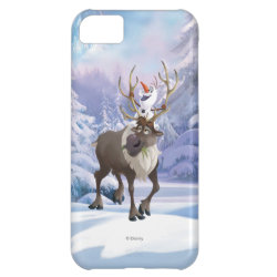 Case-Mate Barely There iPhone 5C Case with Frozen's Olaf the Snowman & Sven the Reindeer design