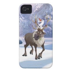 Case-Mate iPhone 4 Barely There Universal Case with Frozen's Olaf the Snowman & Sven the Reindeer design