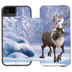 Incipio Watson™ iPhone 5/5s Wallet Case with Frozen's Olaf the Snowman & Sven the Reindeer design