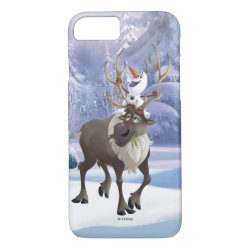 Case-Mate Barely There iPhone 7 Case with Frozen's Olaf the Snowman & Sven the Reindeer design