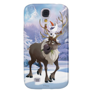 Frozen   Olaf sitting on Sven Samsung Galaxy S4 Cover