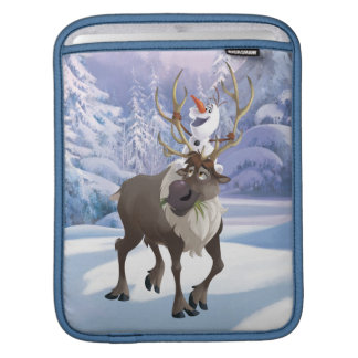 Frozen | Olaf sitting on Sven Sleeve For iPads