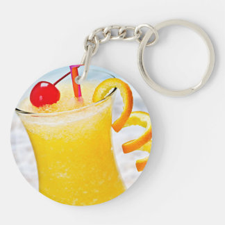 Frozen orange drink keychain