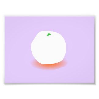 Frozen Orange Photo Print