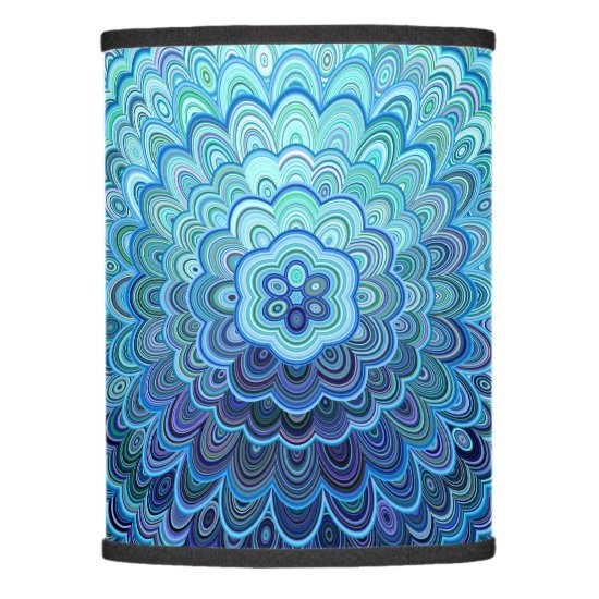 Frozen Oval Mandala Lamp Shade