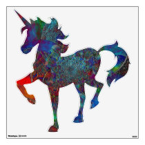 """""""Frozen"""" Peel and Stick Prancing Unicorn Decal"""