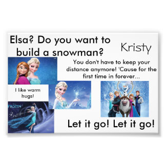 Frozen Photo Card