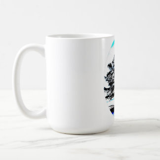 frozen pine art coffee mug